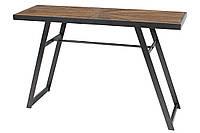 Столик металлический Хьюго с еловой столешницей 120см, цвет - чёрный (TY1-217)