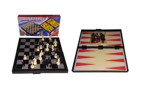"""Игровой набор """"Magnetspel"""" 3 в 1 (шашки, нарды, шахматы) IGR47"""