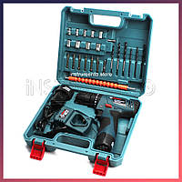 Ударный шуруповерт Bosch TSR12-2LI (12V 3Ah Li-Ion) с набором бит, сверл, головок, гибкий вал.