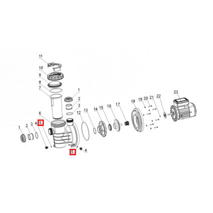 Aquaviva Уплотнительное кольцо для дренажной заглушки Aquaviva SWIM 025-150