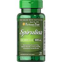 Натуральная добавка Puritan's Pride Spirulina 500 mg, 100 таблеток