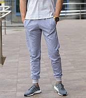 Серые мужские спортивные штаны весна-осень, фото 1