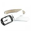 Женский кожаный ремень Weatro nwzh-30k-0032 Белый
