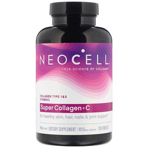 Коллаген + Витамин С, Тип 1&3, NeoCell, 250 таблеток, фото 2