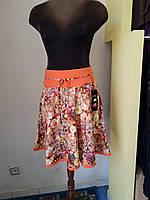 Яркая юбка из цветастого шелка DAS Elit