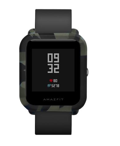 Силиконовый чехол BeWatch для Xiaomi Amazfit BIP Зеленый - камуфляжный (1010896)