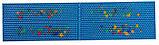 Аппликатор Ляпко 6,2 Ag Квадро размер 118 х 471 мм игольчатый коврик для позвоночника, спины, ног Синий, фото 2