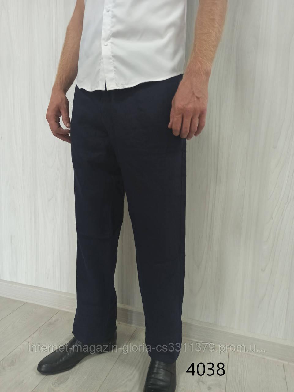 Мужские брюки Prodigy. Лён. (Linen 4038). Размеры: 33,34,35,36,38,40,42.