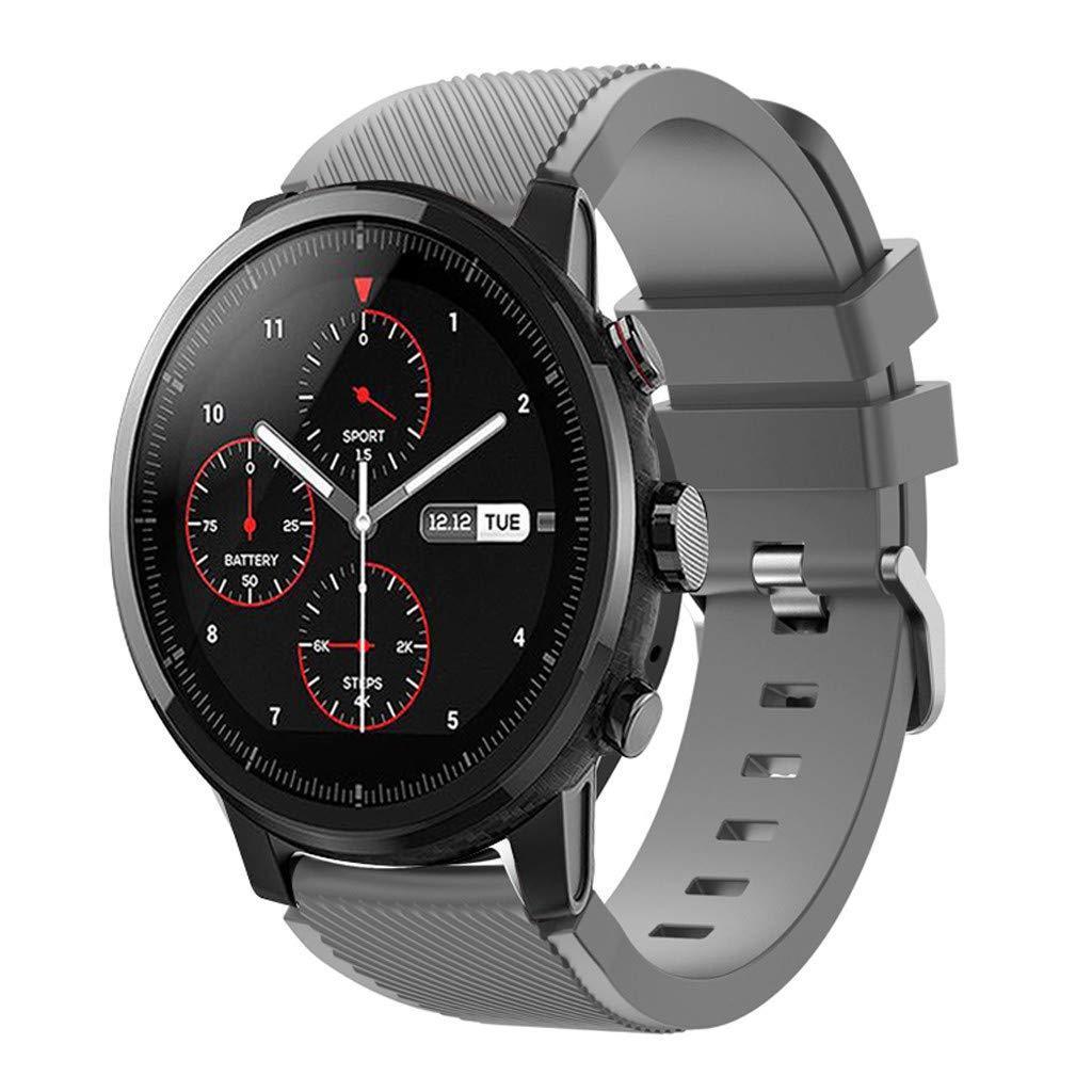 Ремешок силиконовый 22 мм BeWatch ECO для Samsung Gear S3  | Samsung Galaxy Watch 46 mm Темно - серый (1021114.3)