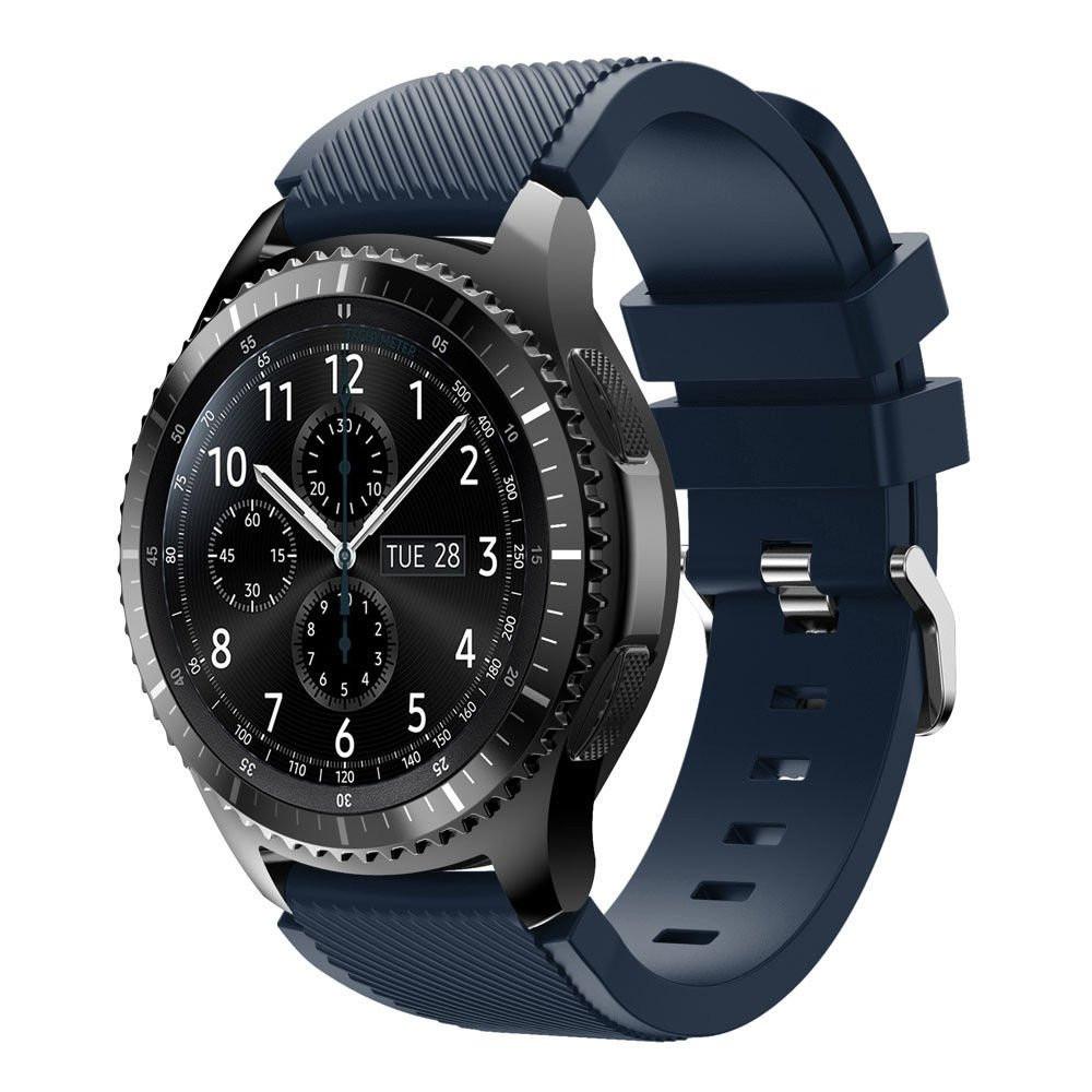 Ремешок силиконовый 22 мм BeWatch ECO для Samsung Gear S3  | Samsung Galaxy Watch 46 mm Темно - синий (1021189.3)
