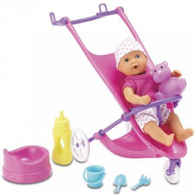 Кукла Simba Мини-пупс NBB с коляской и аксессуарами (5030928)