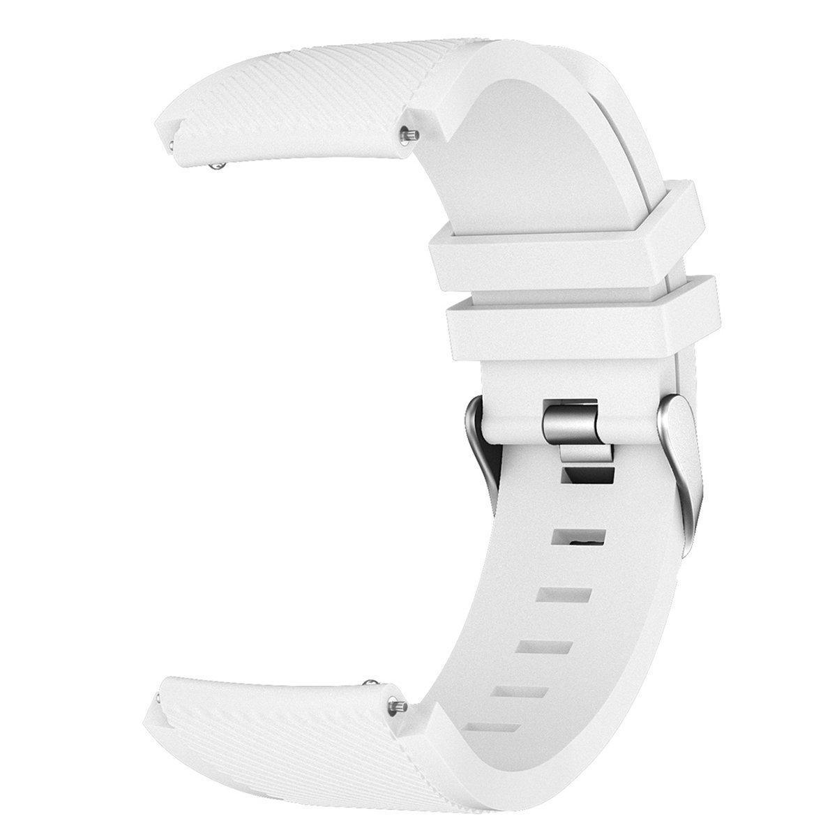Ремешок силиконовый 22 мм BeWatch ECO для Xiaomi Amazfit Stratos   Pace   GTR 47mm  Белый (1021102.47)