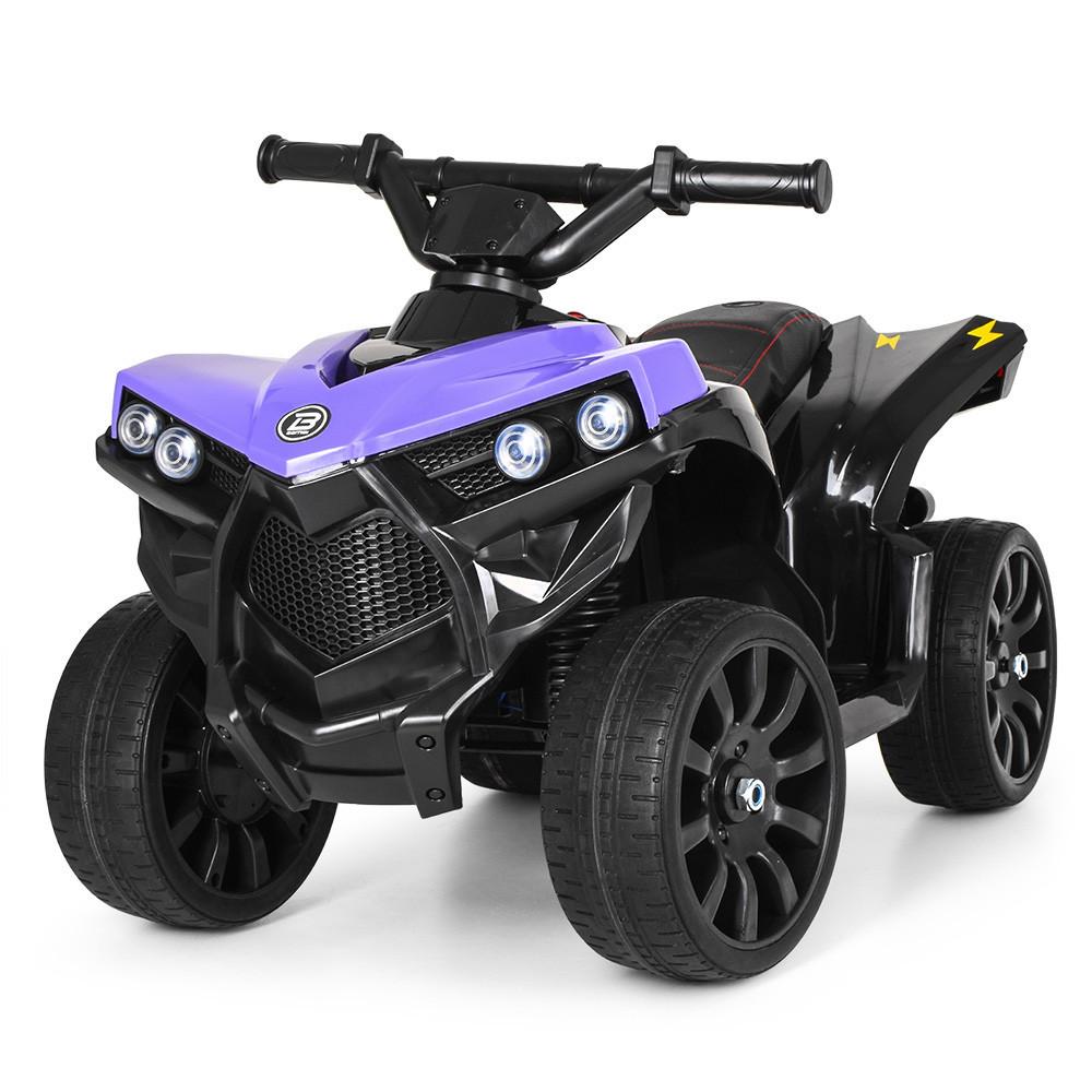 Детский квадроцикл кож.сидение, свет, колеса EVA