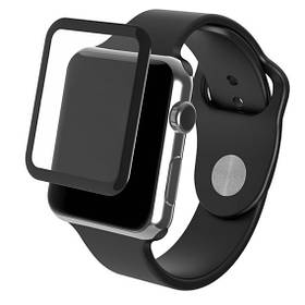 Защитное стекло для Apple Watch 42mm (0.3мм, 5D, черное)