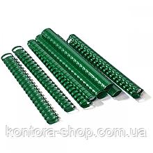 Пружины пластиковые 38 мм зеленые (50 штук)