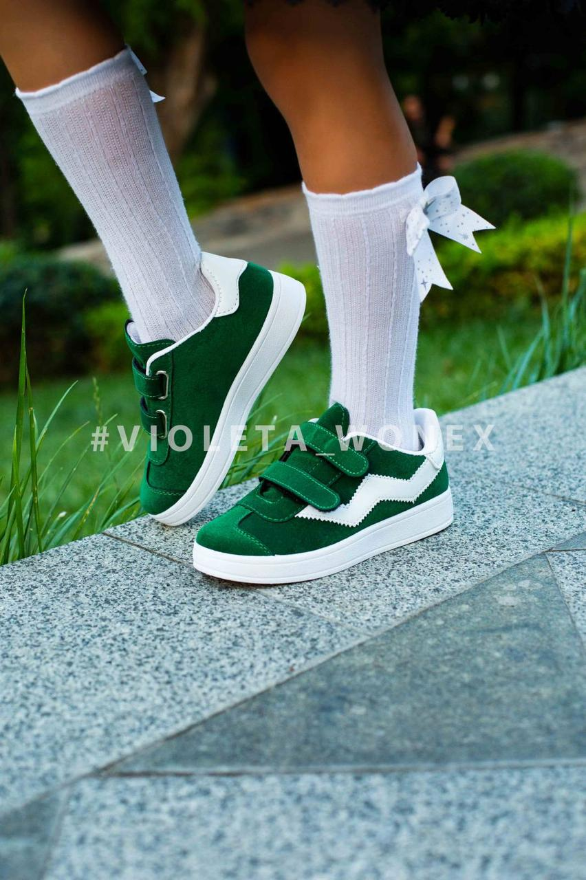 Кеды детские,кеды детские для девочки Violeta-Wonex 220-6 green