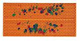 Аплікатор Ляпко 5,8 Ag Шанс розмір 118 х 235 мм голчастий масажний килимок для спини, рук, ніг Помаранчевий, фото 5