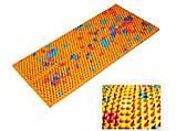 Аплікатор Ляпко 5,8 Ag Шанс розмір 118 х 235 мм голчастий масажний килимок для спини, рук, ніг Помаранчевий, фото 4