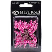 Декоративные булавки Maya Road Flowers Vintage Pearls Hot Pink 2.25 (TK2531)