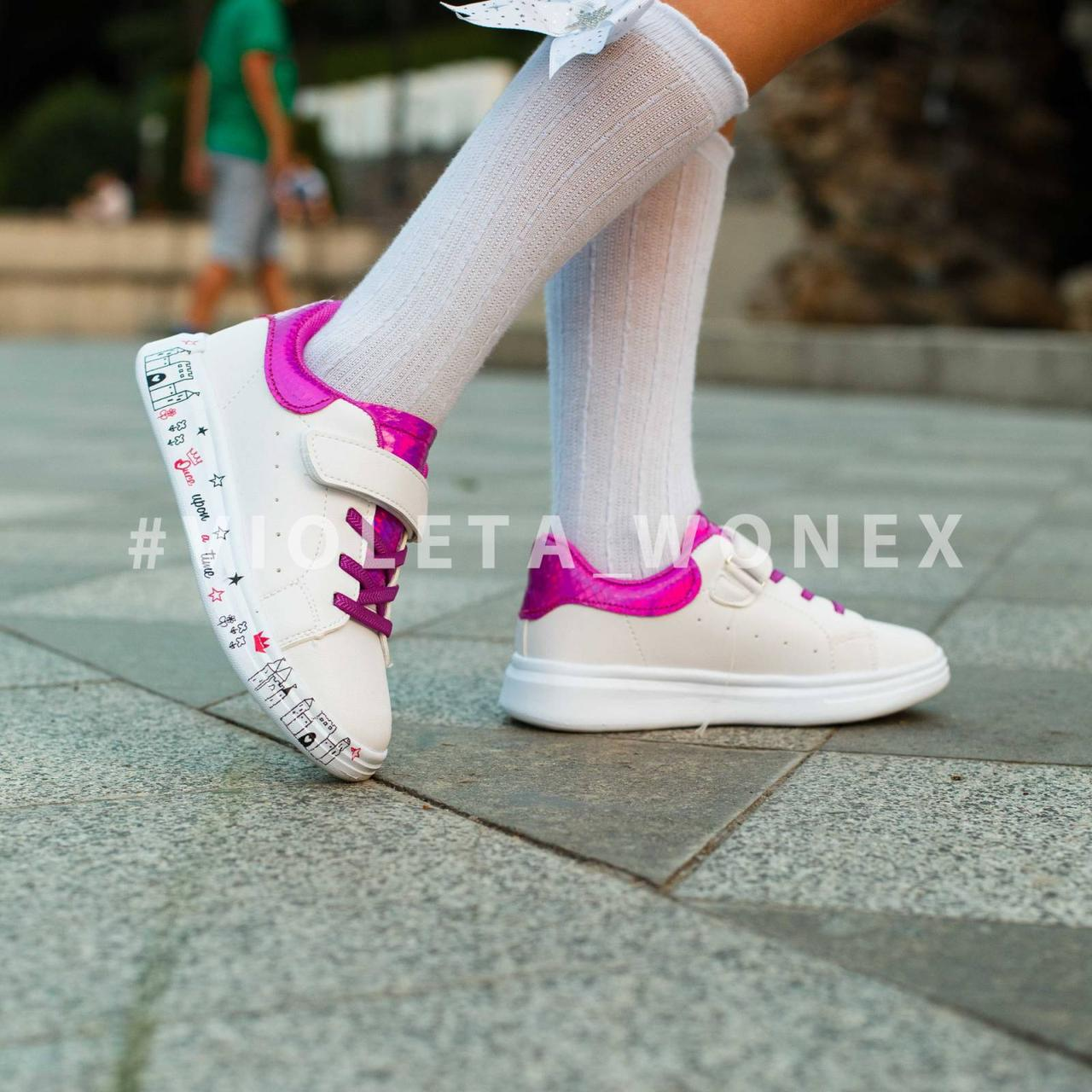 Кеды детские Violeta-Wonex 200-94 white-purple