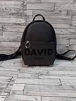 Женский мини рюкзак эко-кожа David Jones Дэвид Джонс. Серый