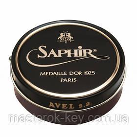 Паста для взуття Saphir Medaille d'or Pate De Luxe колір махагон (09) 100 мл