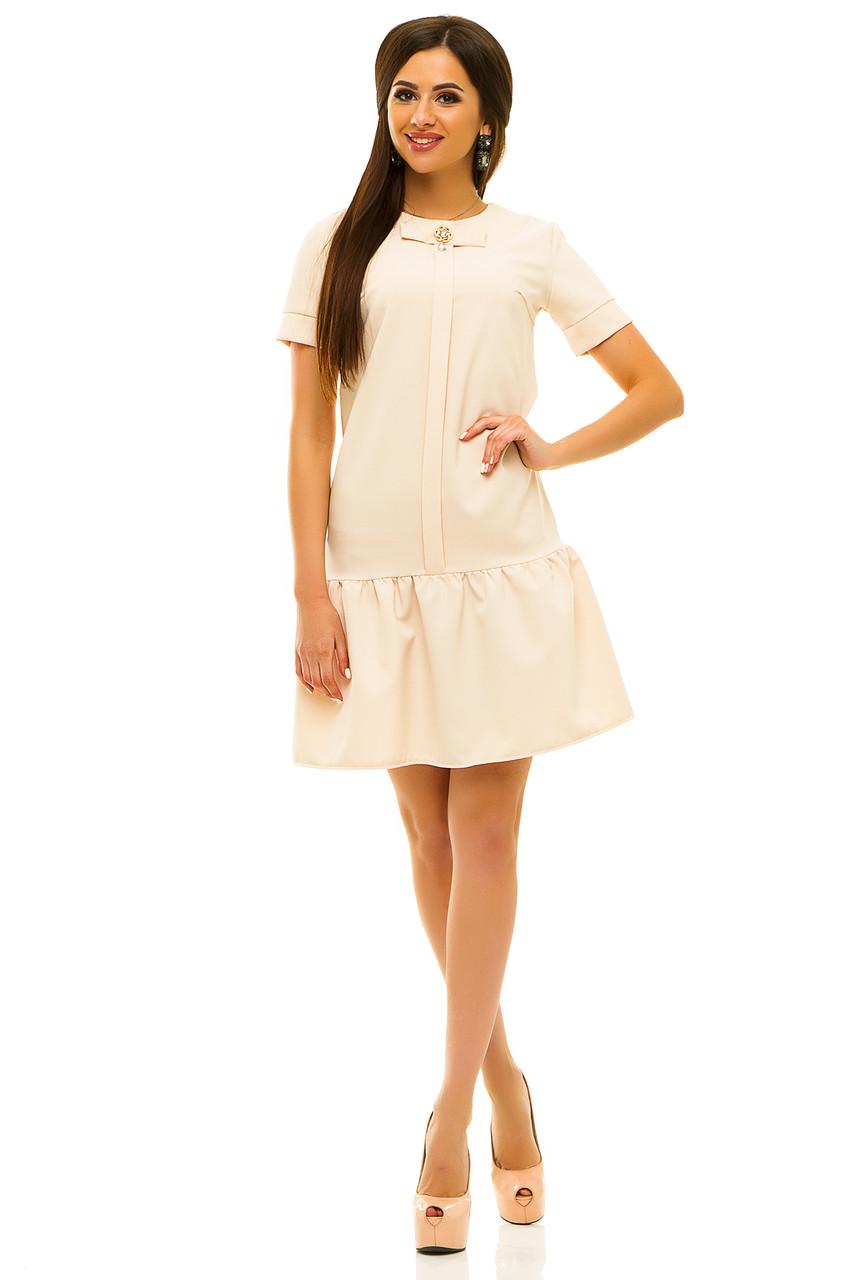 Платье 236 бежевое размер 42