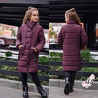 Детская  теплая куртка-пуховик для девочки. Цвета!, фото 1