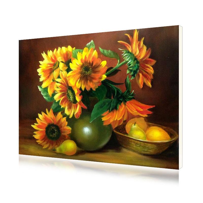 """Картина по номерам Lesko Y-5287 """"Подсолнухи и груши"""" 40-50см набор для творчества живопись"""