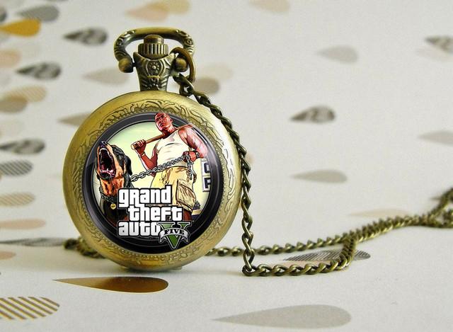 """Карманные часы GTA """"Angry Dog"""" товары из игр"""