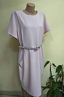 Нарядное женское платье пудрового цвета