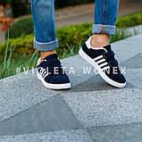 Кеды детские синие,детские кроссовки для мальчика Violeta-Wonex 220-5d.blue-white, фото 2