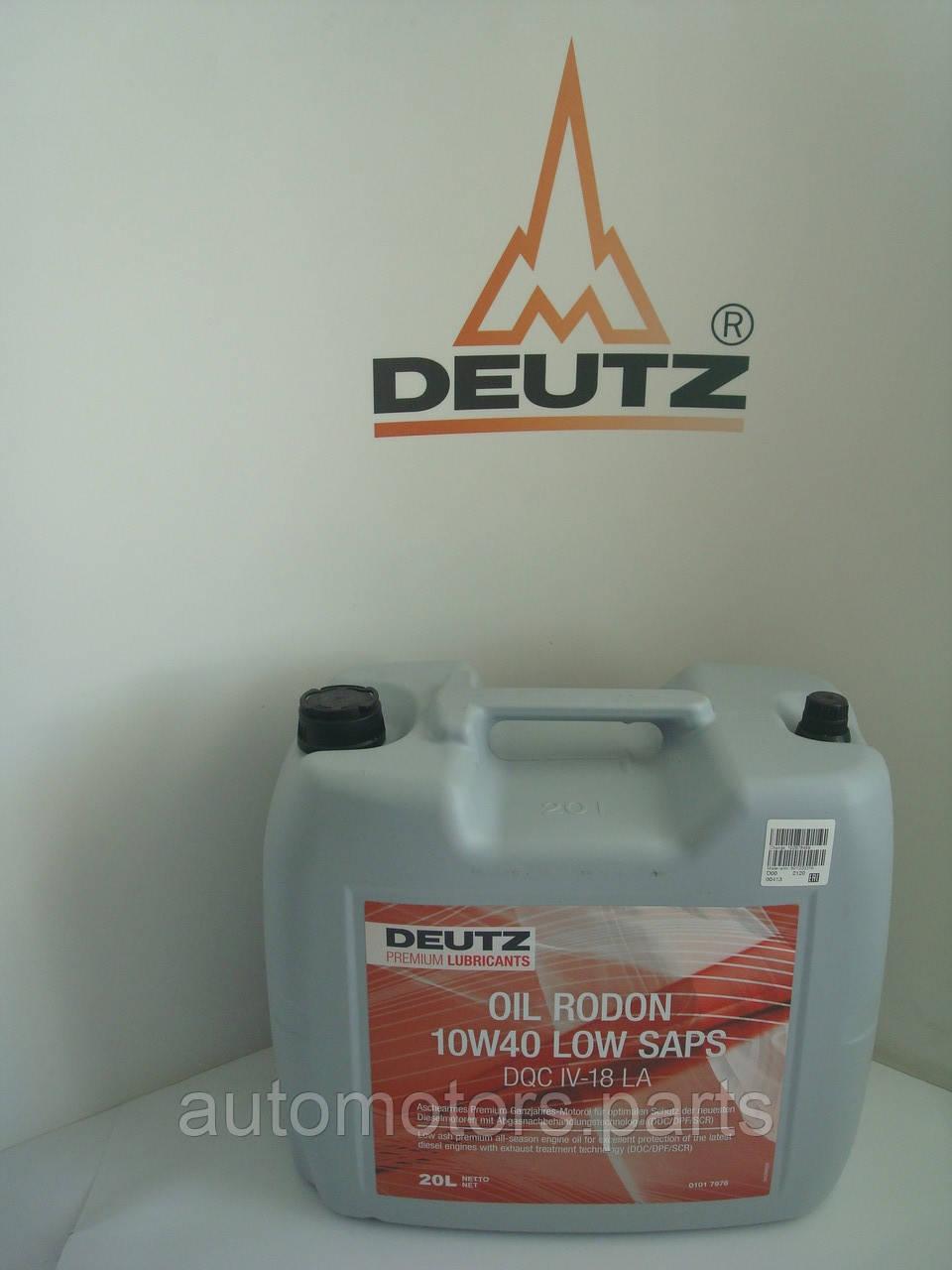 Масло моторное для дизельных двигателей DEUTZ Rodon 10W40 Low SAPS