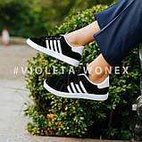 Кеды детские,кроссовки детские черные Violeta-Wonex 220-5-black-white, фото 2