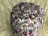 Бандана-шапка-чалма-косынка хлопковая в мелкий цветочек, фото 5