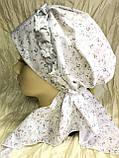 Бандана-шапка-чалма-косынка хлопковая в мелкий цветочек, фото 3