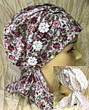 Бандана-шапка-чалма-косынка хлопковая в мелкий цветочек, фото 2