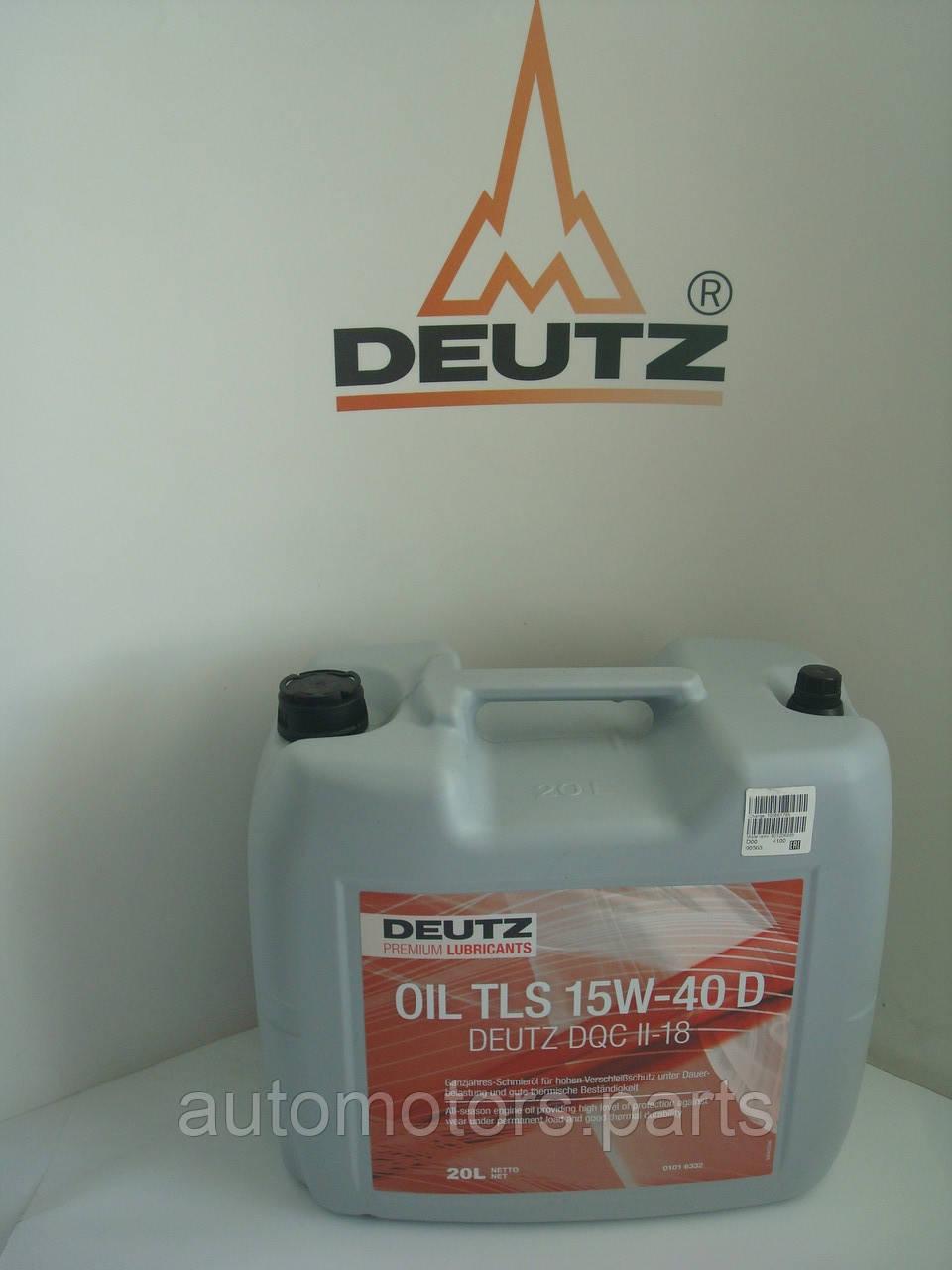 Масло моторное для дизельных двигателей DEUTZ TLS 15W40 D