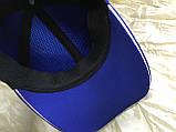 Бейсболка трикотажная с белым кантом размер  58-60 цвет электрик, фото 2
