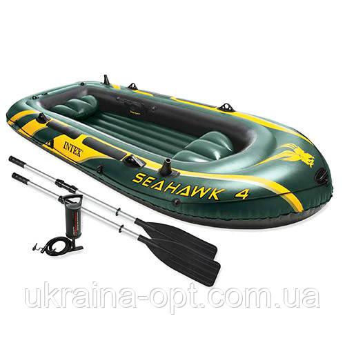 Лодка надувная 4-х местная большая надувная лодка SEAHAWK 68351