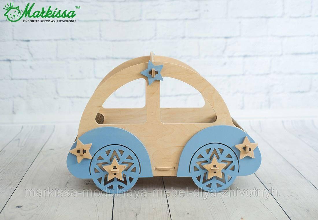 Лежанка-авто голубое ТМ Маркисса