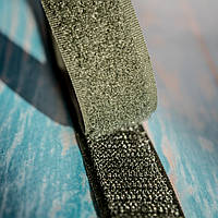 Липучка пришивная (лента контакт, велькро) / цвет хаки / ширина 2 см / упаковка 3 м