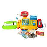 Игрушечный кассовый аппарат с микрофоном, калькулятор, весы LIMO TOY 7018, фото 4