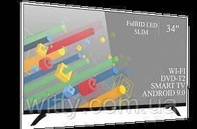 """Телевизор Ерго Ergo 34"""" Smart-TV/Full HD/DVB-T2/USB (1920×1080) Android 9.0, фото 2"""