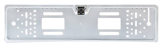 Камера заднего вида в рамке номерного знака A58 с подсветкой (16 + 4 LED) Silver (13213)