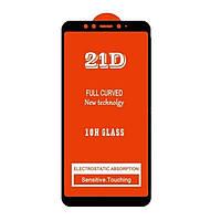 Защитное стекло 21D Full Glue для Xiaomi Mi A2 (Mi 6X) черное 0,3 мм в упаковке