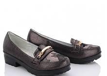 Туфли подросток на девочку бронзовые,туфли детские школьные, M.L.V-FA 49-3