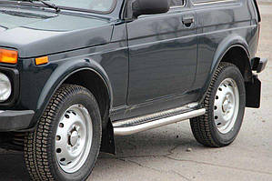 Lada Niva и Urban Боковые площадки Premium (2 шт., нерж.) 42 мм