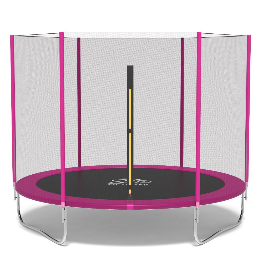 Батут FitToSky 312 см розовий
