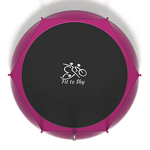 Батут FitToSky 312 см розовий, фото 2